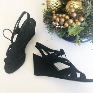 J. Crew black wedge sandals